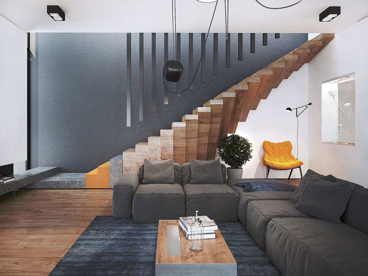 Colourful Chic Contemporary Home Visualized by Pavel Voytov-02