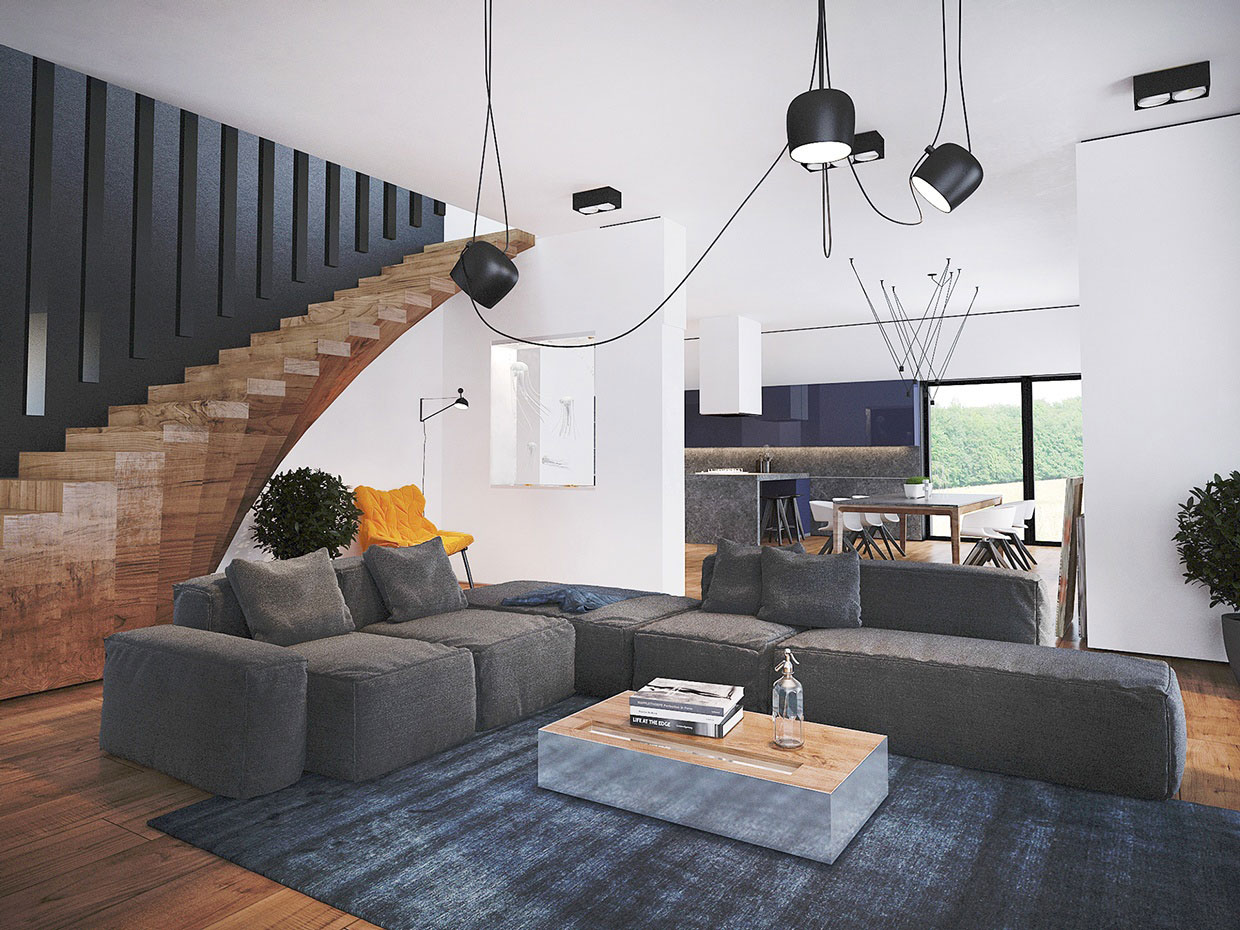 Colourful Chic Contemporary Home Visualized by Pavel Voytov-03