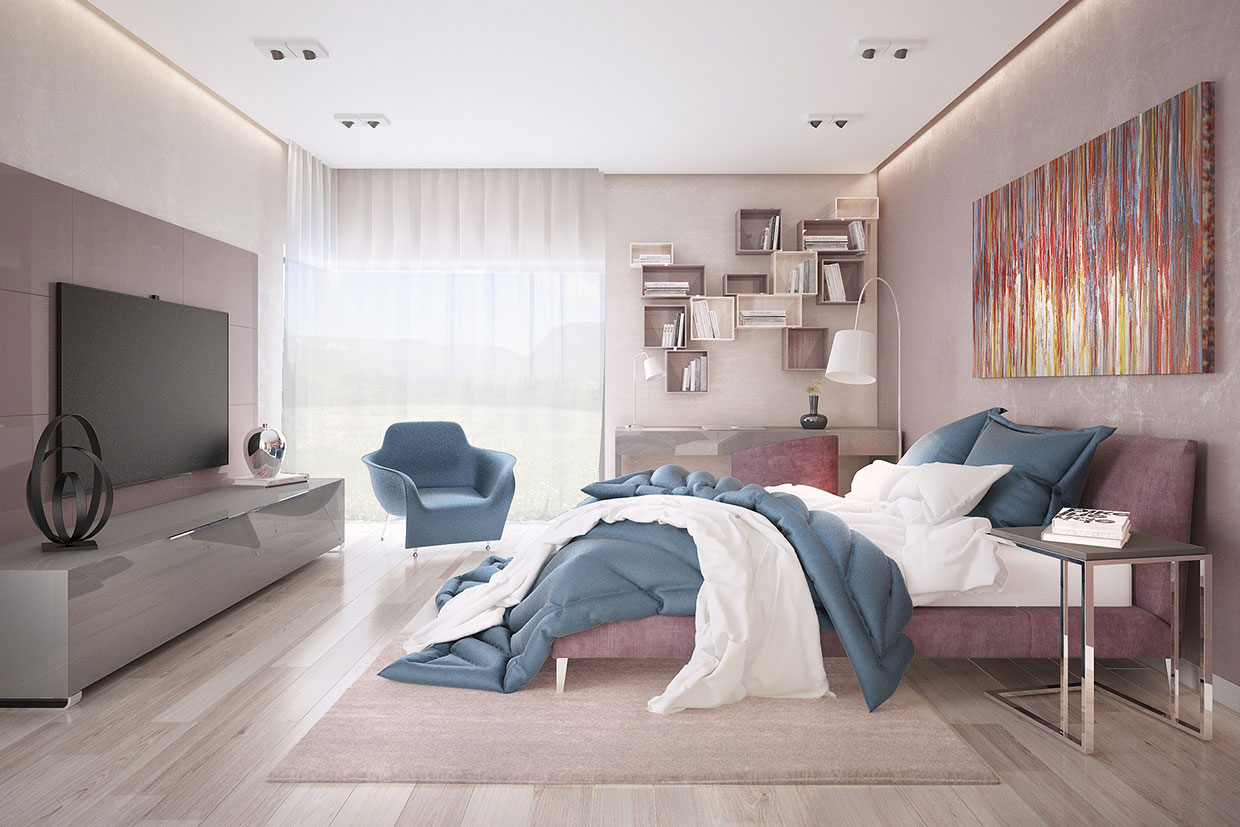 Colourful Chic Contemporary Home Visualized by Pavel Voytov-06