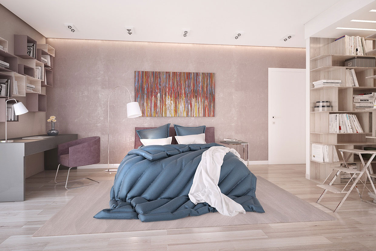 Colourful Chic Contemporary Home Visualized by Pavel Voytov-07