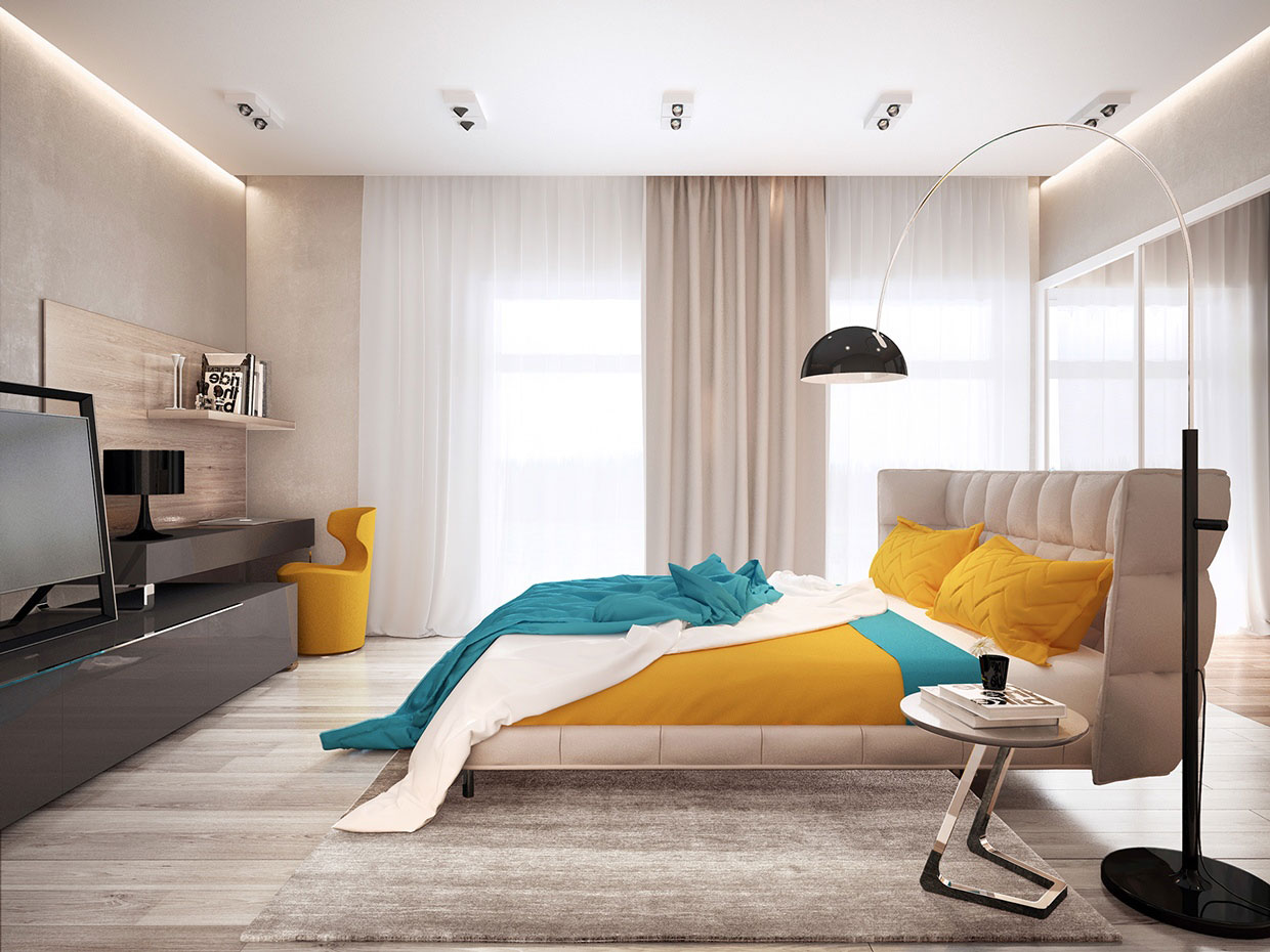 Colourful Chic Contemporary Home Visualized by Pavel Voytov-13
