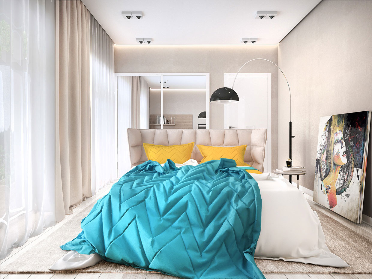 Colourful Chic Contemporary Home Visualized by Pavel Voytov-14