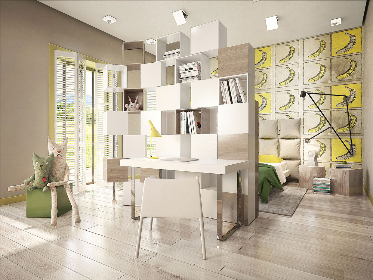 Colourful Chic Contemporary Home Visualized by Pavel Voytov-15