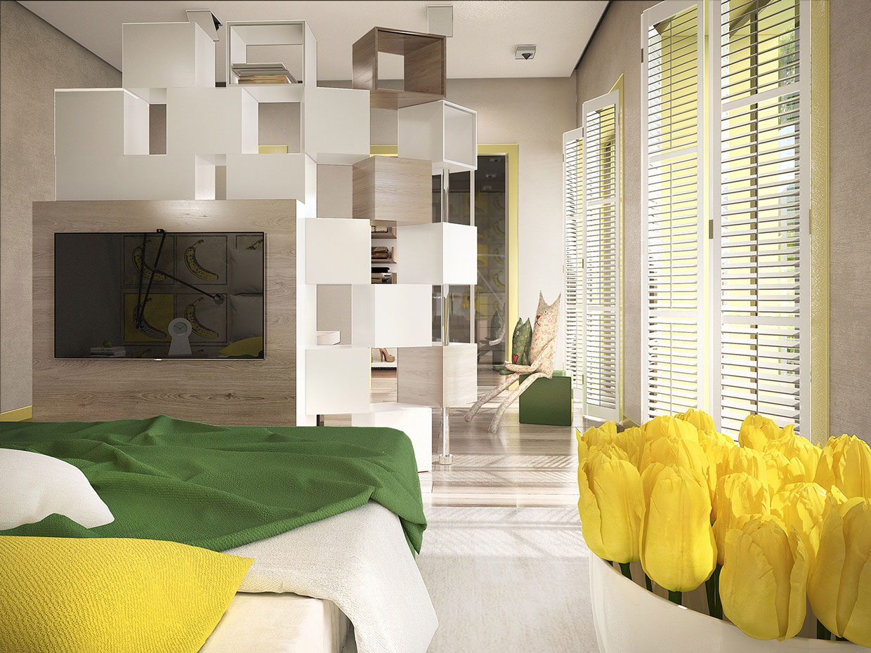 Colourful Chic Contemporary Home Visualized by Pavel Voytov-17