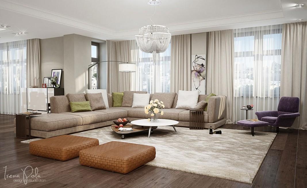 Elegant Kiev Apartment Visualized by Irena Poliakova