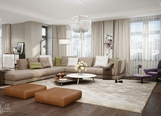 Elegant Kiev Apartment Visualized by Irena Poliakova