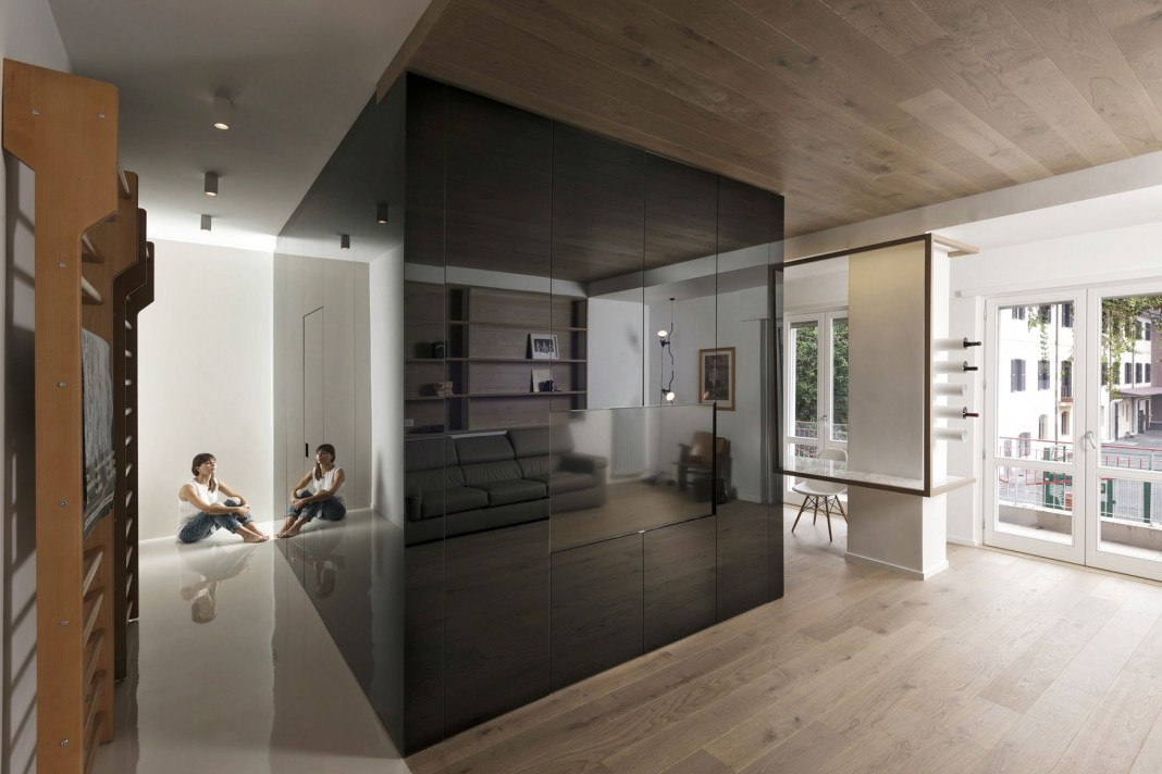 The Cube Apartment In Rome By Noses Architects