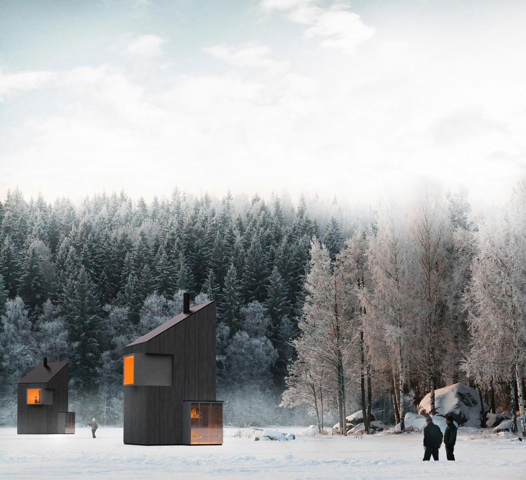 258 Square Foot Modern Winter Shelter in Bjelašnica by FO4A Architecture