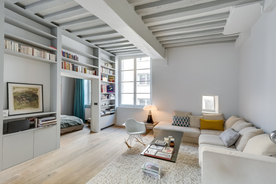 538 Square Foot Marais Loft in the Historical Heart of Paris by Tatiana Nicol