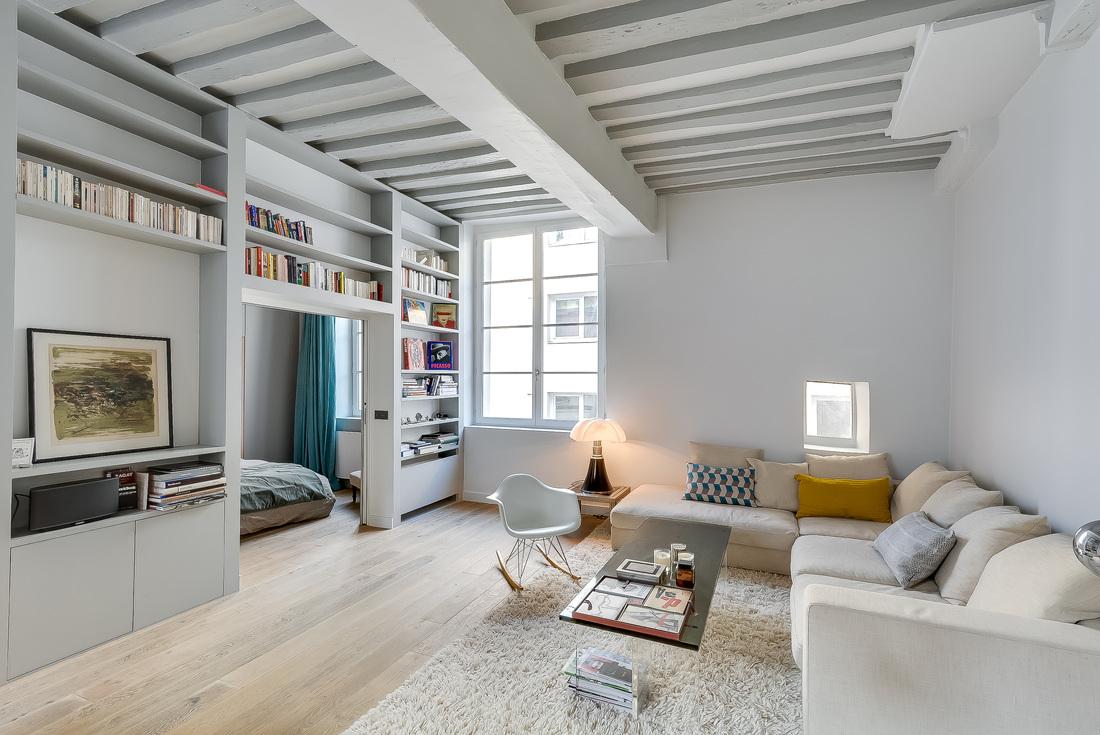 538 Square Foot Marais Loft in the Historical Heart of Paris by Tatiana Nicol-01