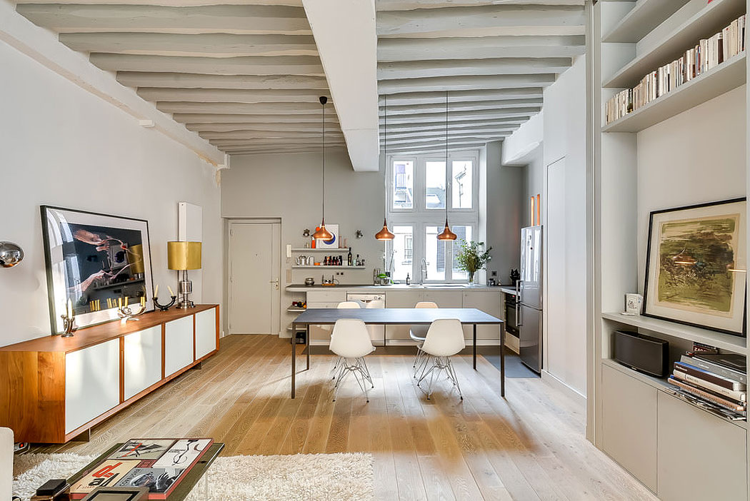 538 Square Foot Marais Loft in the Historical Heart of Paris by Tatiana Nicol-03