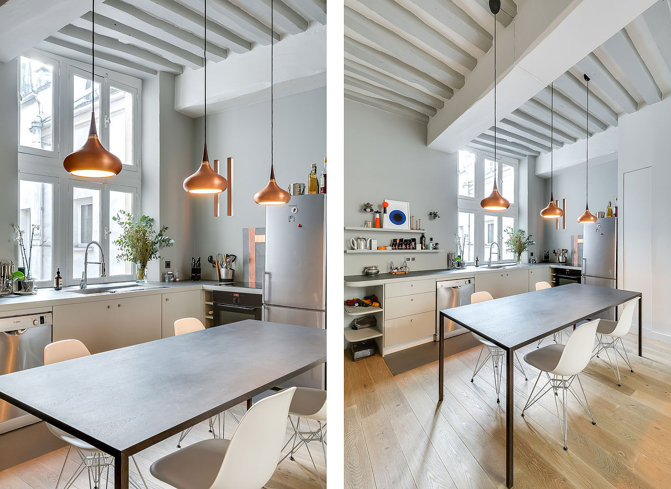 538 Square Foot Marais Loft in the Historical Heart of Paris by Tatiana Nicol-05