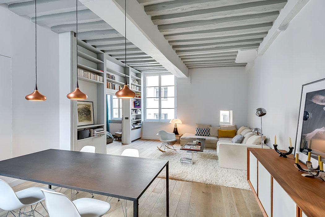 538 Square Foot Marais Loft in the Historical Heart of Paris by Tatiana Nicol-06