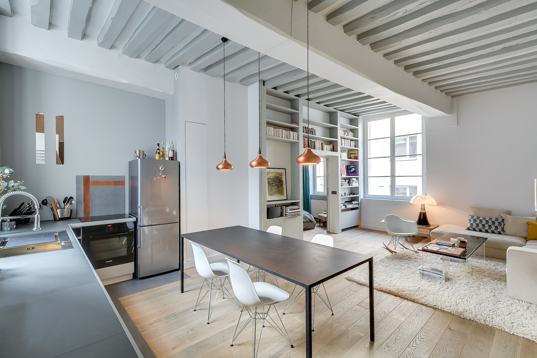 538 Square Foot Marais Loft in the Historical Heart of Paris by Tatiana Nicol-07