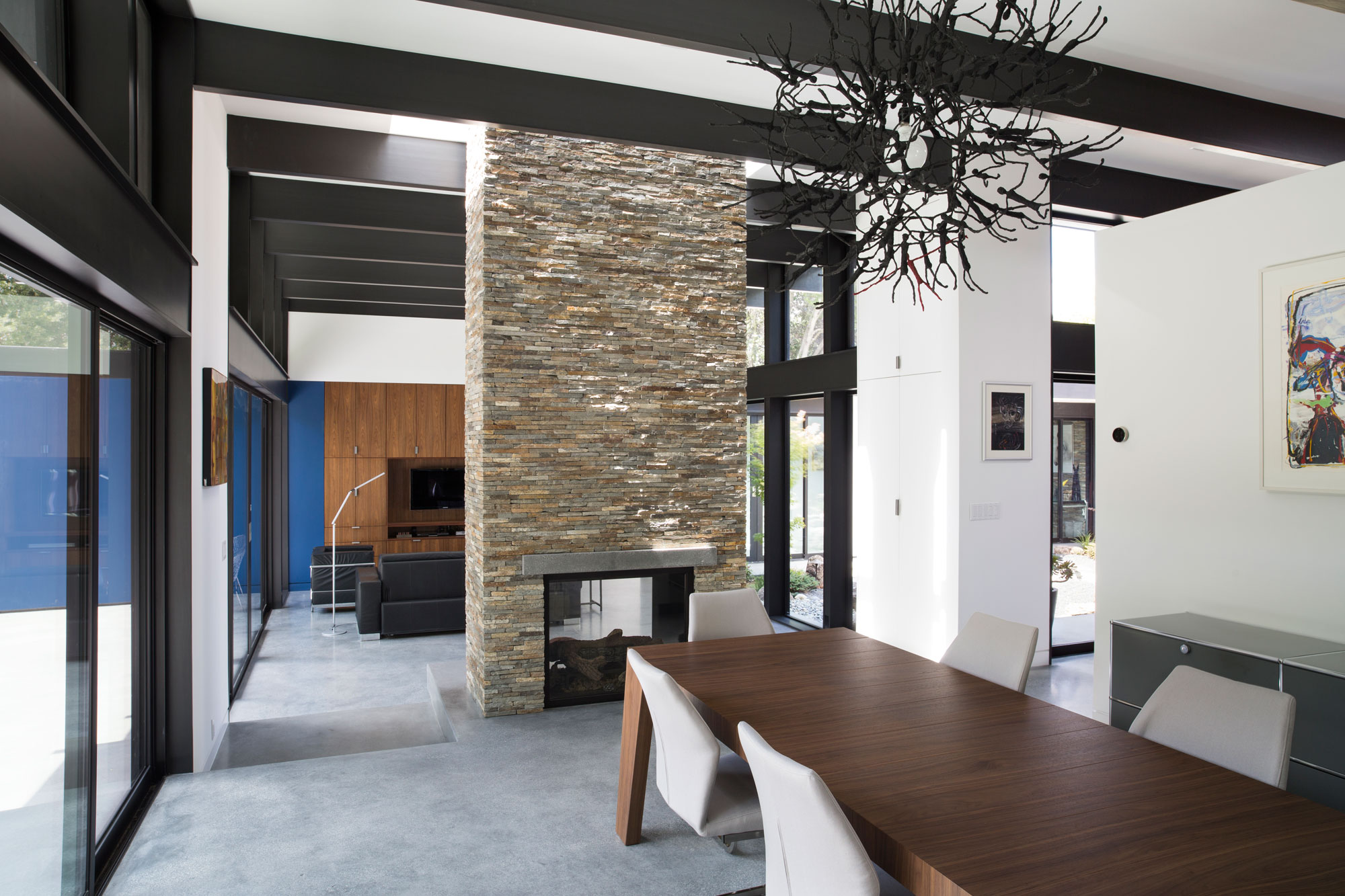 Atrium House, a Mid-century Architecture Residence by Klopf Architecture-12
