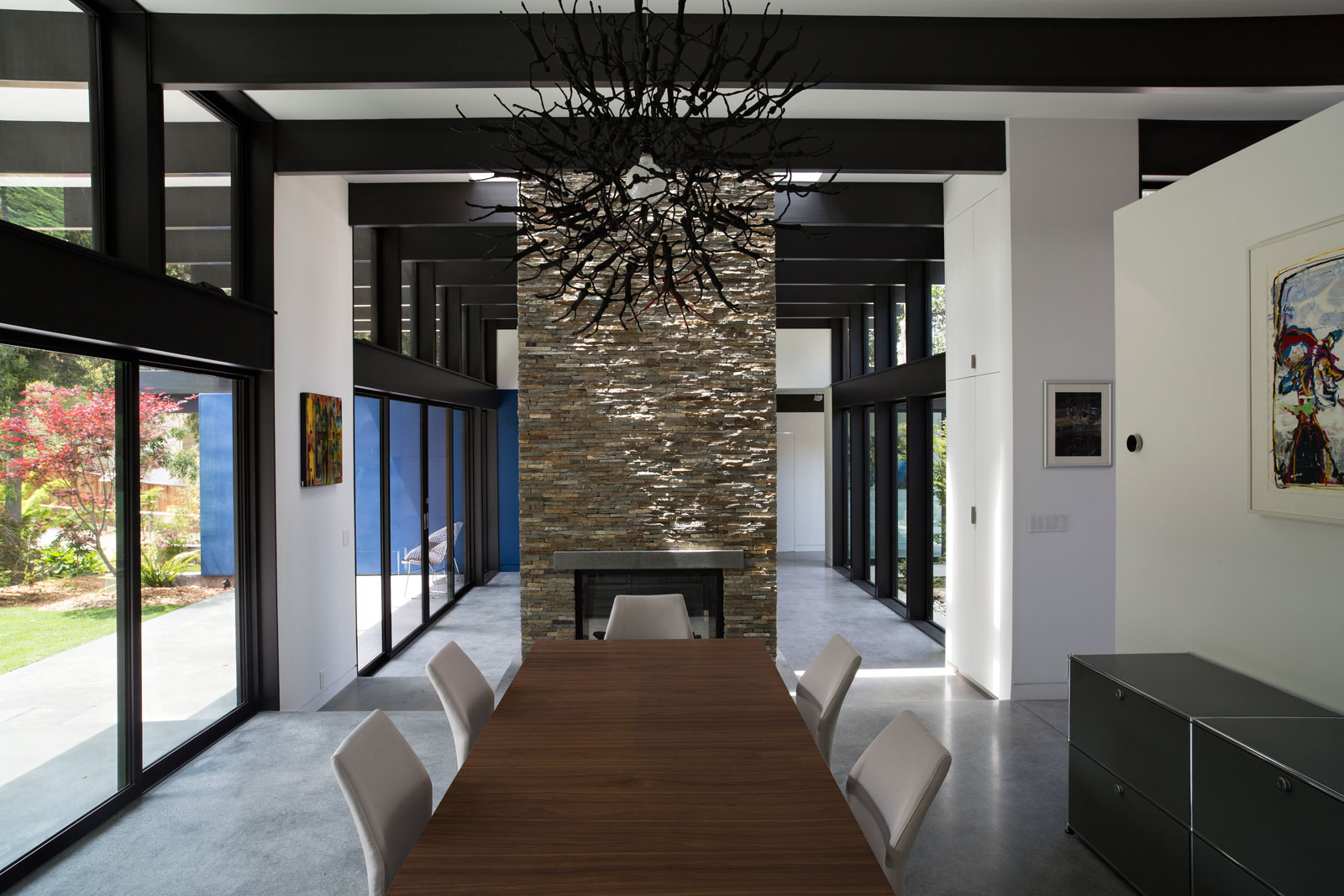 Atrium House, a Mid-century Architecture Residence by Klopf Architecture-13