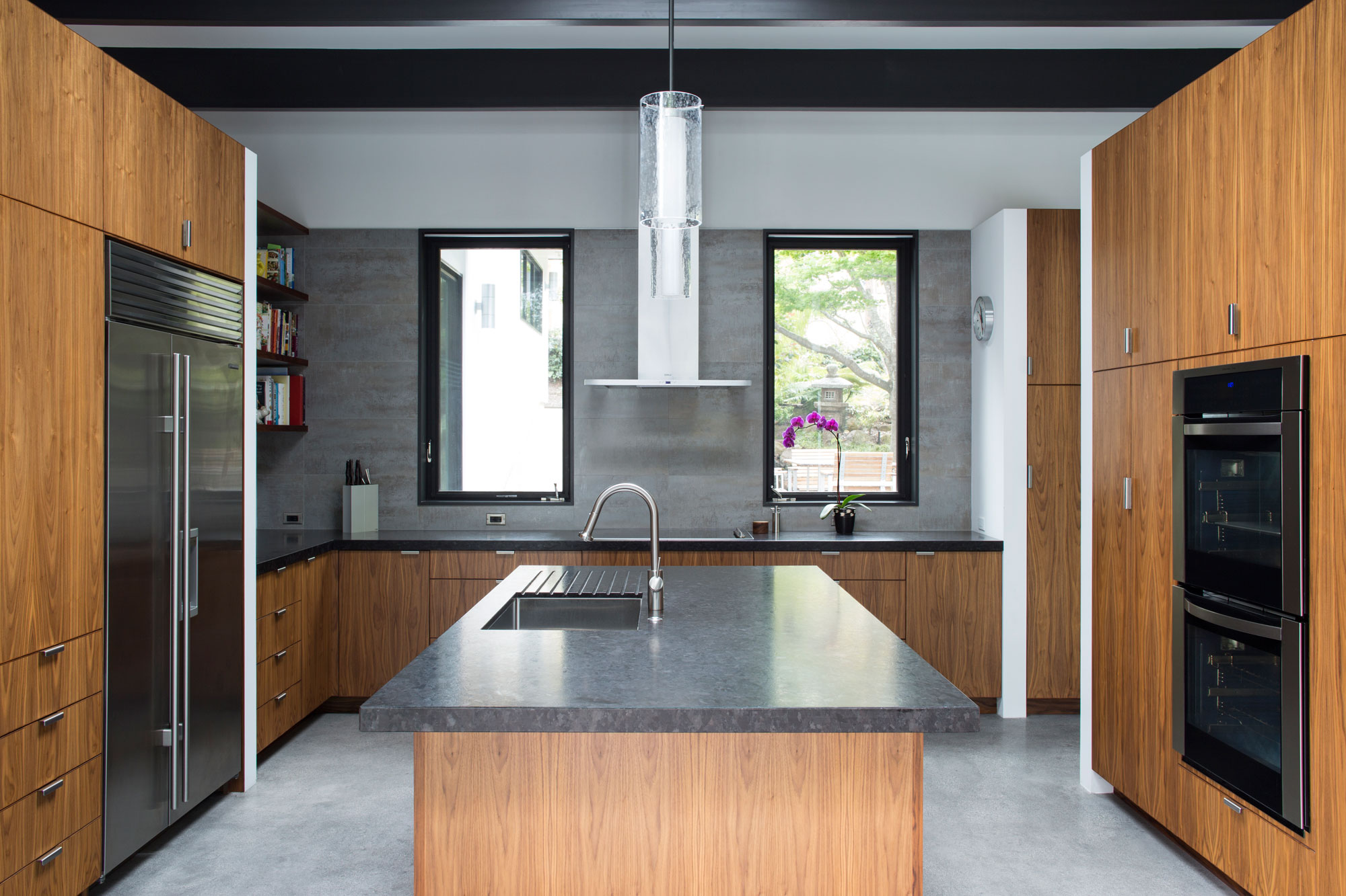 Atrium House, a Mid-century Architecture Residence by Klopf Architecture-15