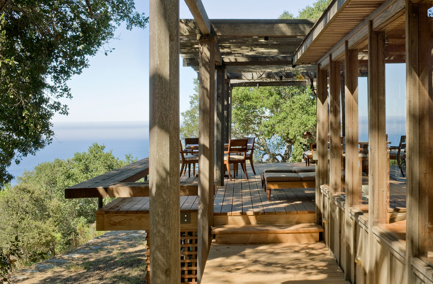 Big sur cabin with mid century accent pieces and earth for Big sur cabin
