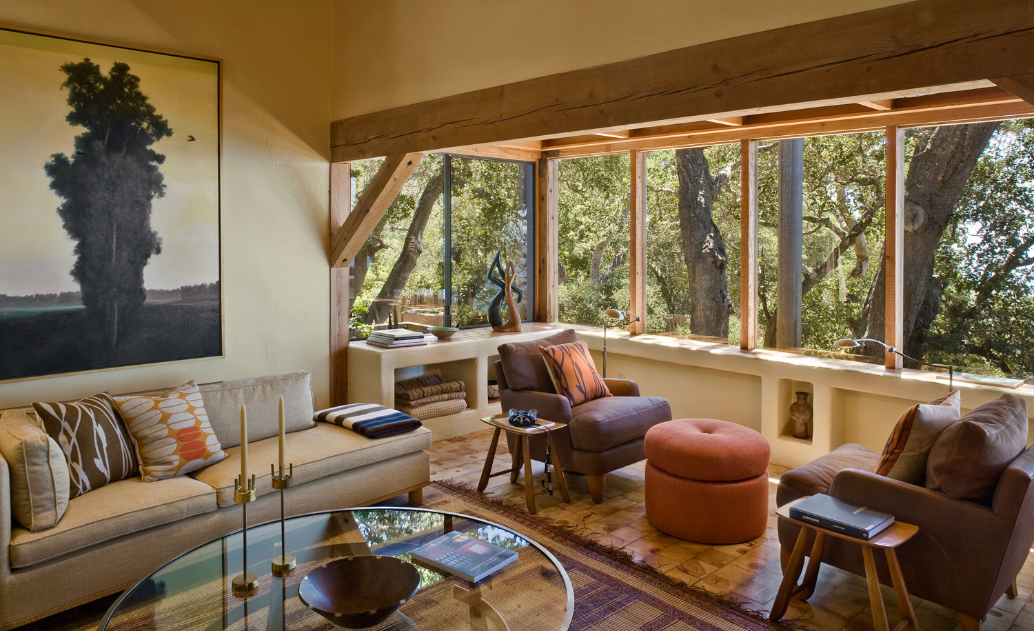 Big Sur Cabin with Mid-Century Accent Pieces and Earth Tone Palette by Studio Schicketanz-07