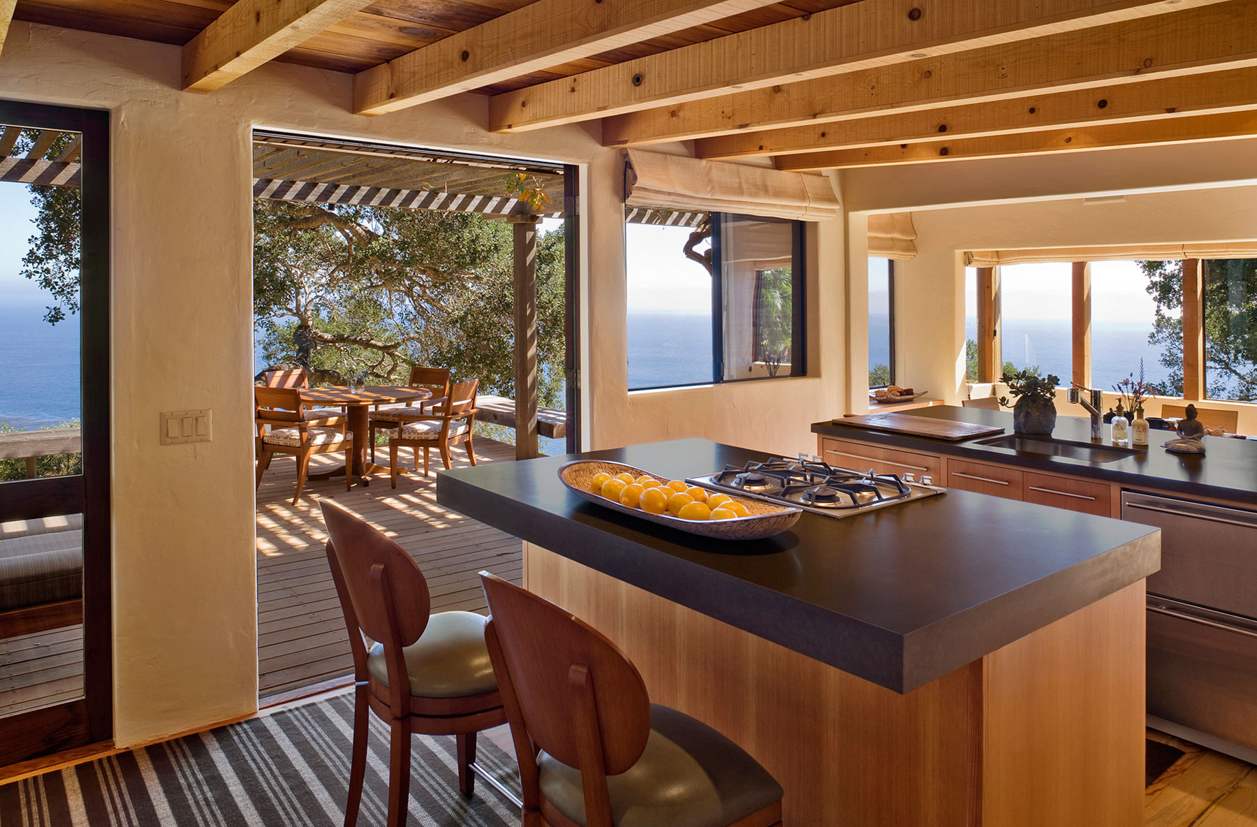 Big Sur Cabin with Mid-Century Accent Pieces and Earth Tone Palette by Studio Schicketanz-09