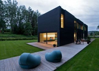 Black Boxed Family House in Minsk by Architectural Bureau G. Natkevicius & Partners