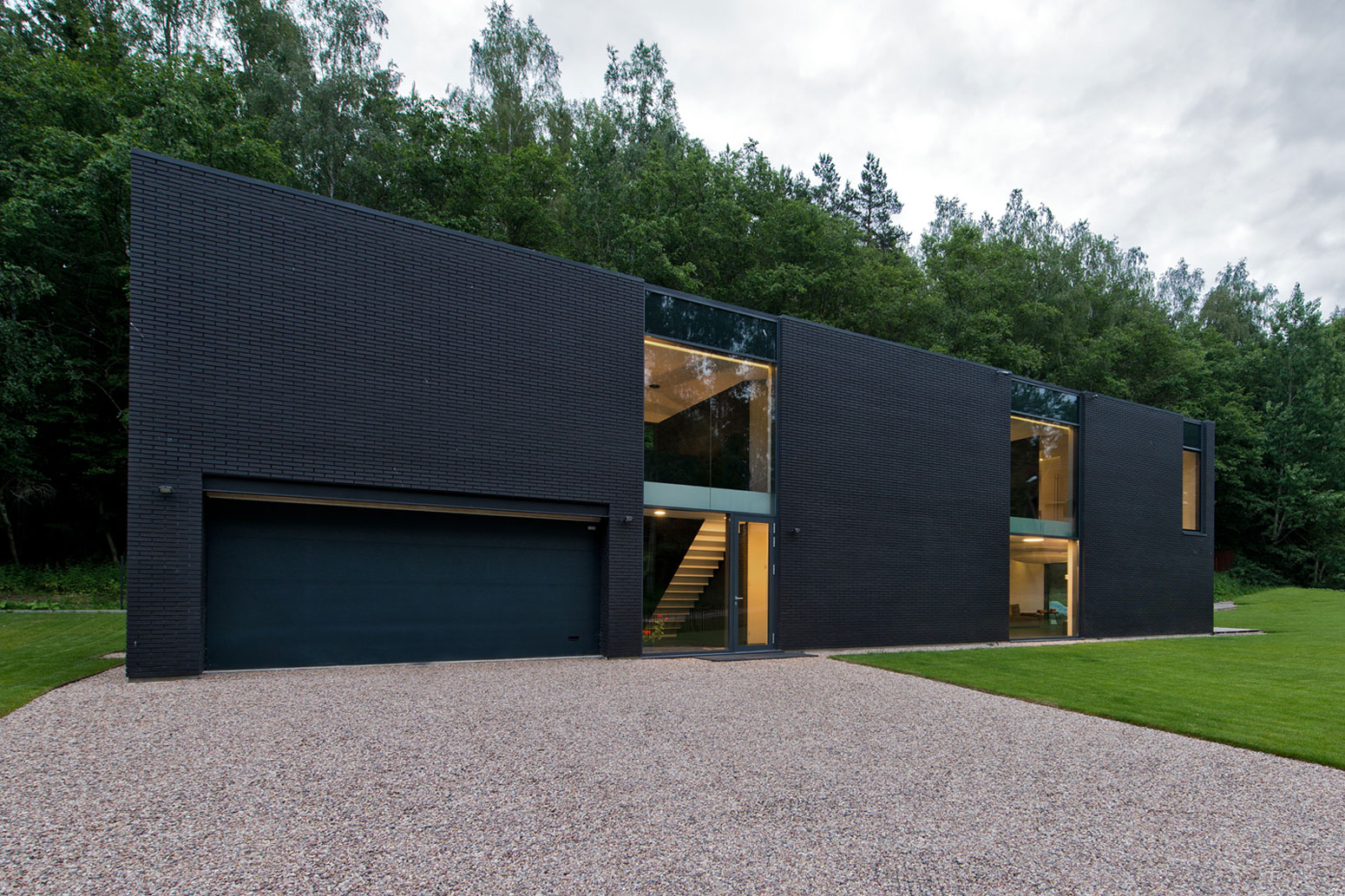 Black Boxed Family House in Minsk by Architectural Bureau G. Natkevicius & Partners-09