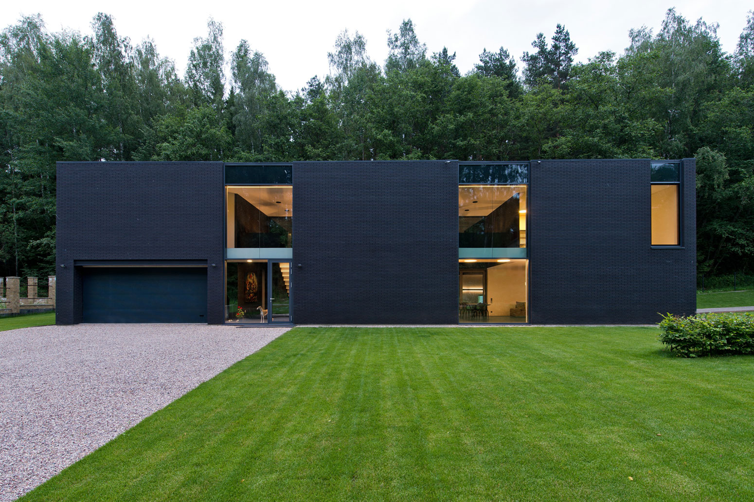 Black Boxed Family House in Minsk by Architectural Bureau G. Natkevicius & Partners-10
