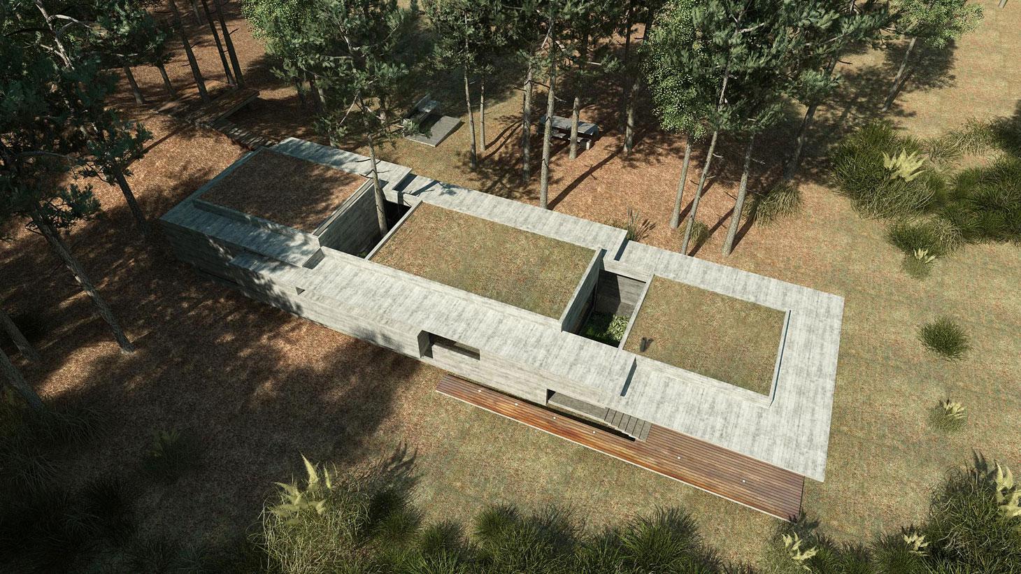 Concrete Forrest House in Costa Esmeralda by Besonias Almeida Arquitectos01