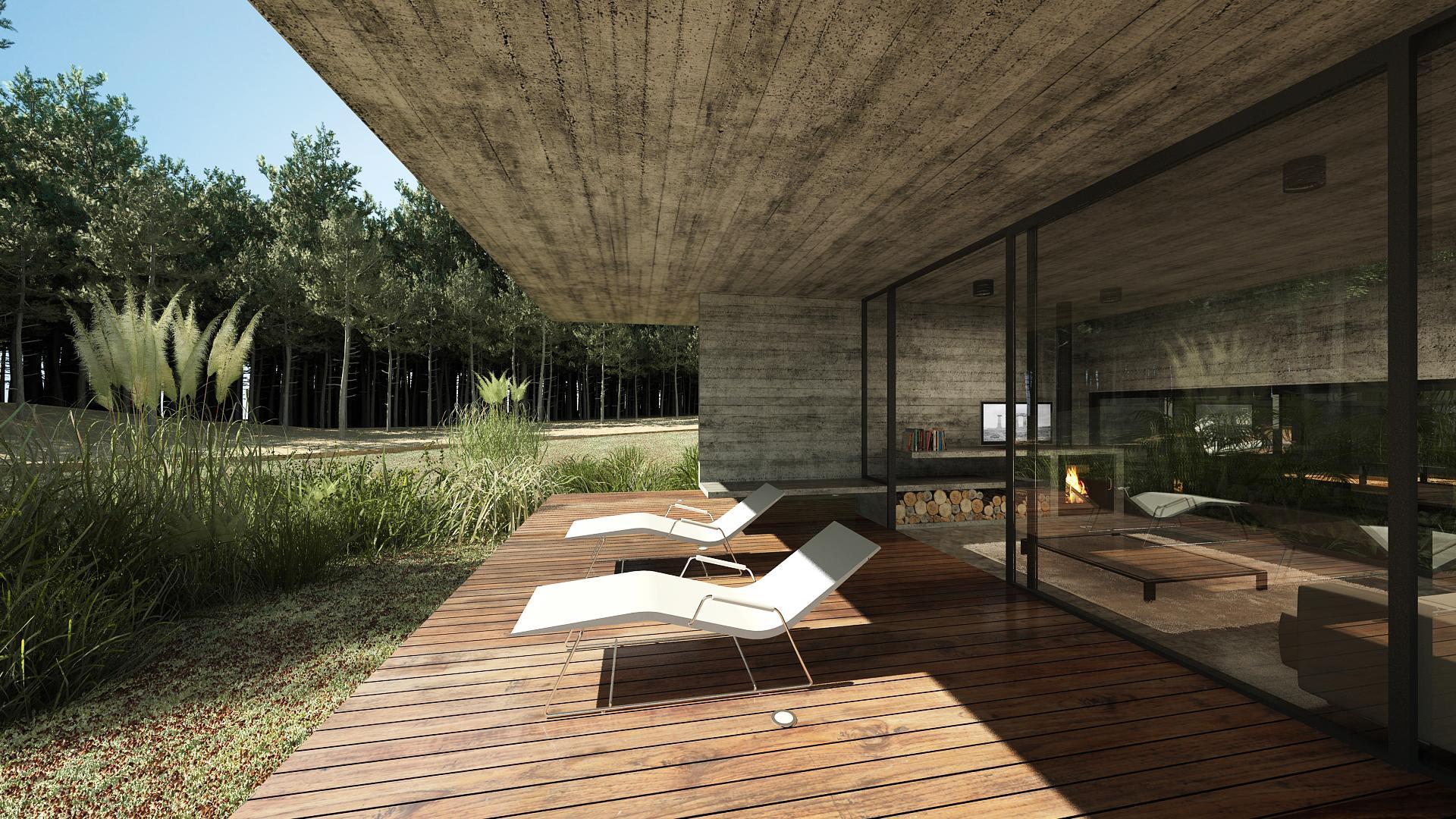 Concrete Forrest House in Costa Esmeralda by Besonias Almeida Arquitectos08