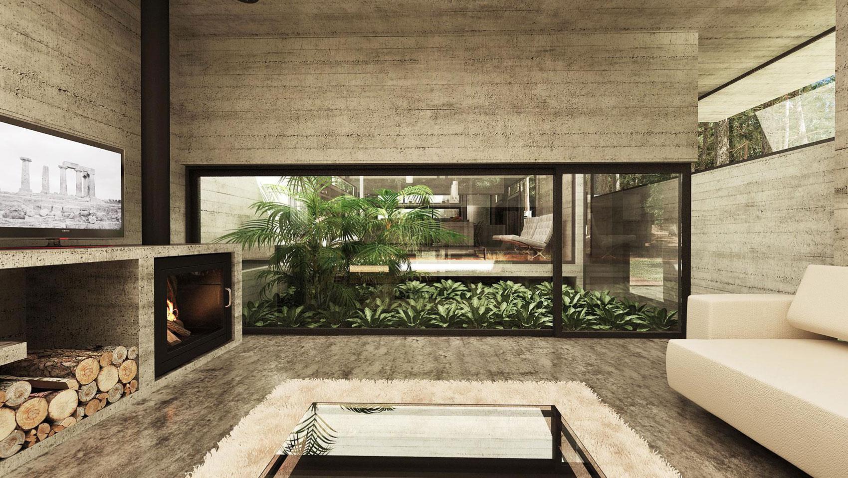 Concrete Forrest House in Costa Esmeralda by Besonias Almeida Arquitectos09