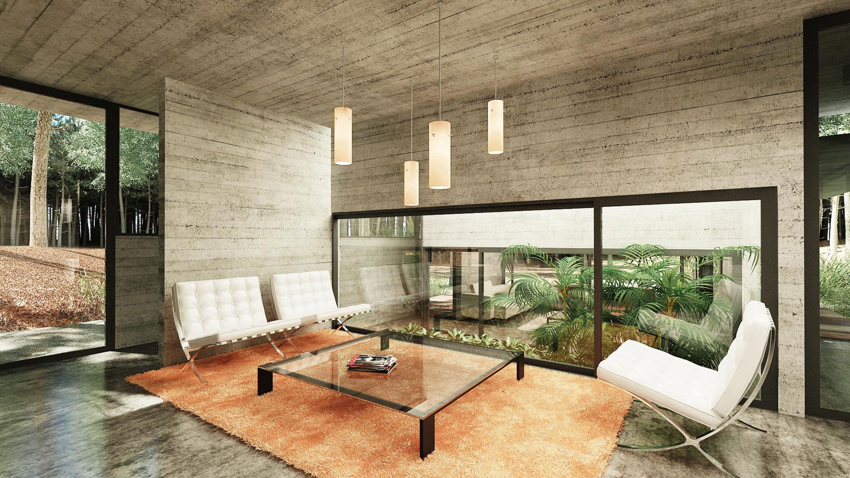 Concrete Forrest House in Costa Esmeralda by Besonias Almeida Arquitectos10