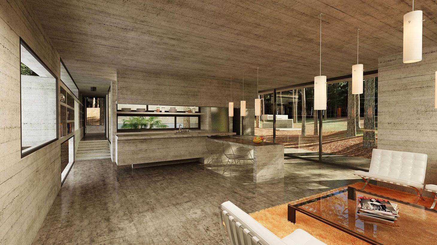 Concrete Forrest House in Costa Esmeralda by Besonias Almeida Arquitectos12