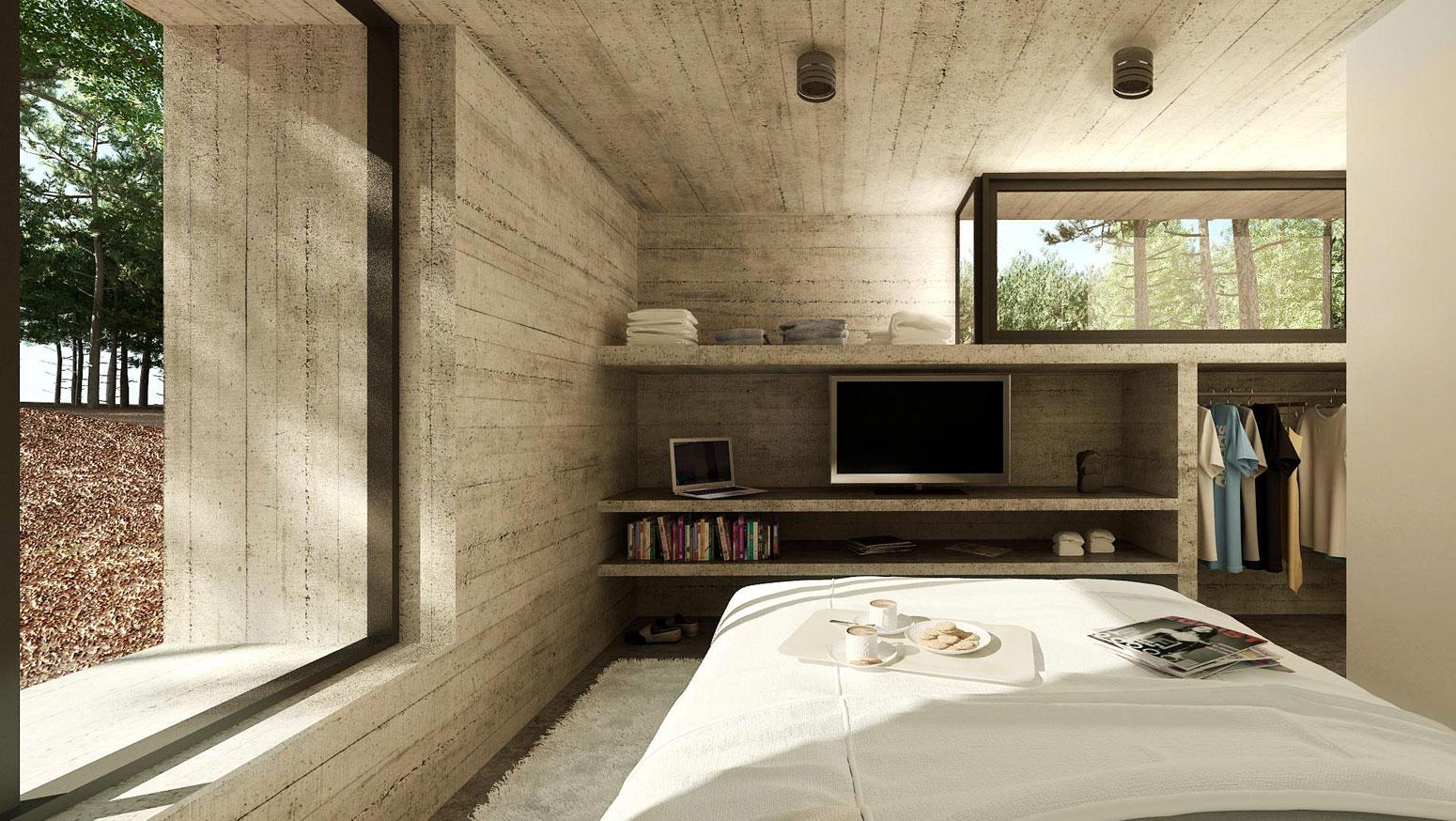 Concrete Forrest House in Costa Esmeralda by Besonias Almeida Arquitectos13