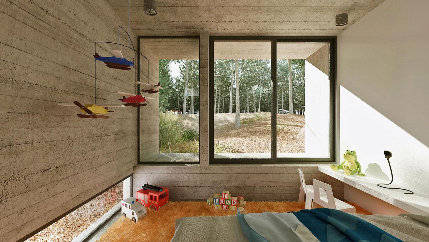 Concrete Forrest House in Costa Esmeralda by Besonias Almeida Arquitectos14
