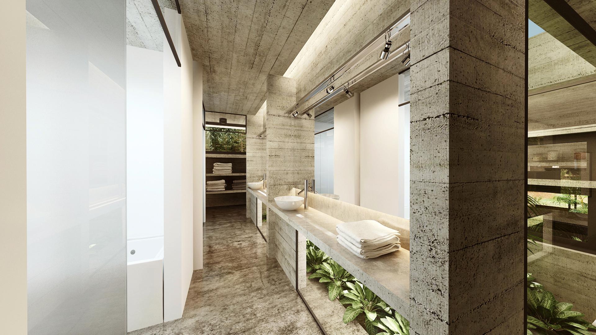 Concrete Forrest House in Costa Esmeralda by Besonias Almeida Arquitectos15