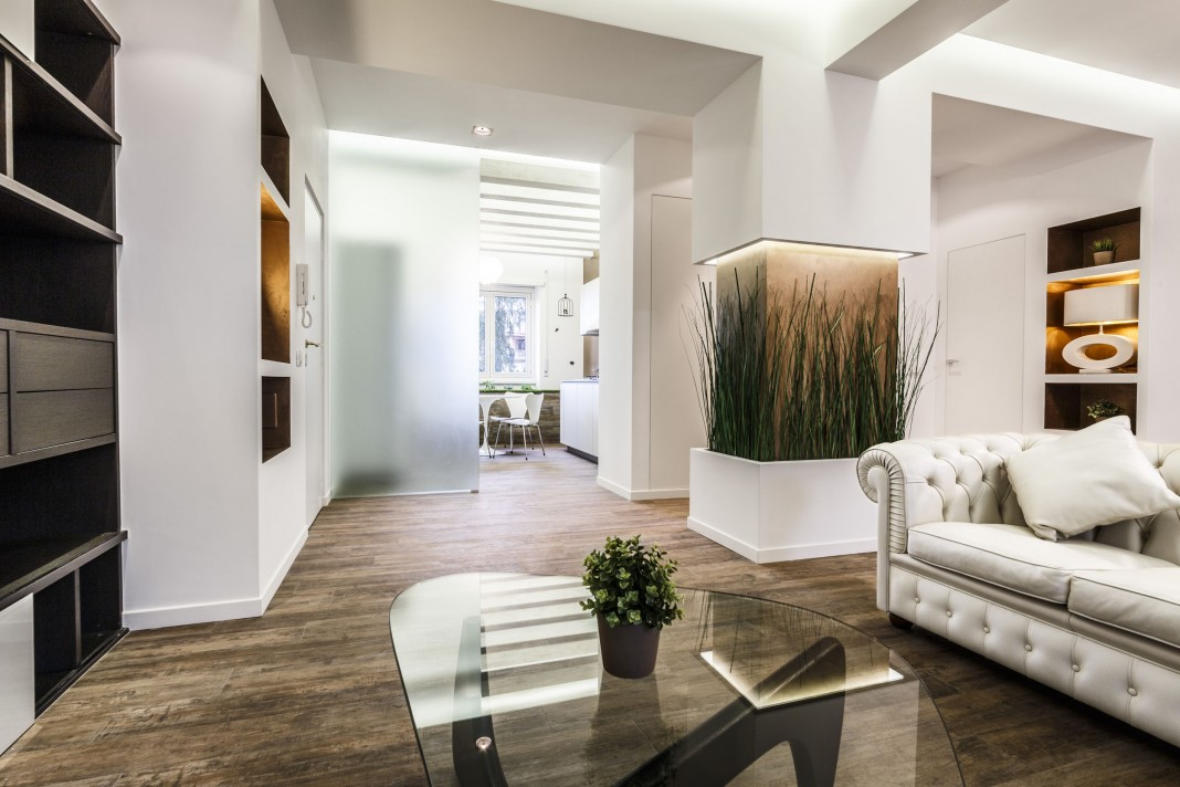 Contemproary Art of Scent of Garden Apartment in Rome by Brain Factory