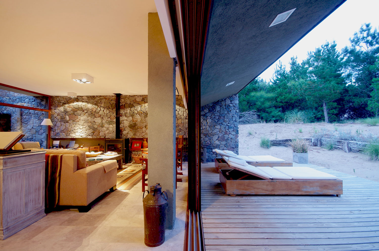 interior and exterior of the villa