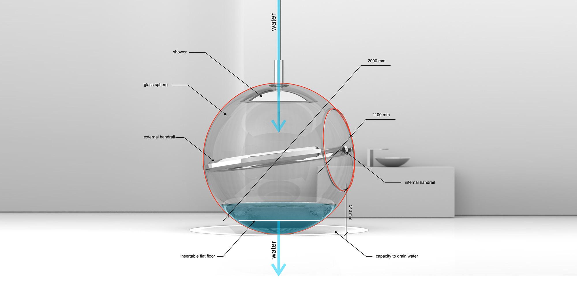Glass Bathsphere, the Future of Bathroom Baths by Alexander Zhukovsky-02