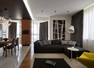 Graphite Penthouse in Kiev by Denis Rakaev
