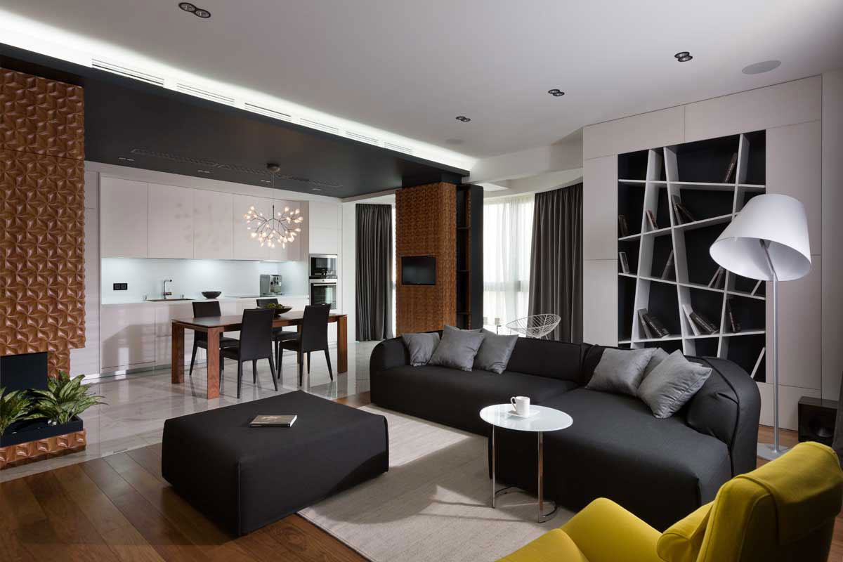 Graphite Penthouse in Kiev by Denis Rakaev-03