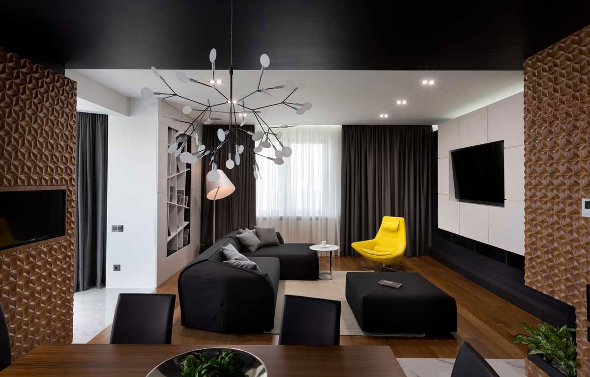 Graphite Penthouse in Kiev by Denis Rakaev-07
