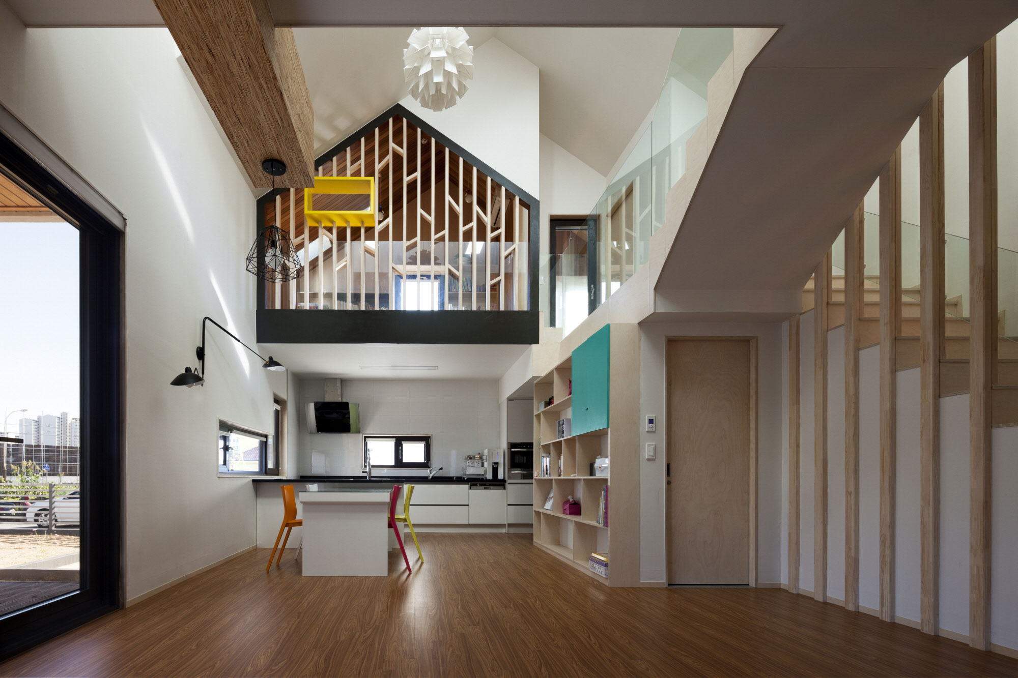 Iksan t shaped house in south korea by kddh architects - Mansions in south korea ...
