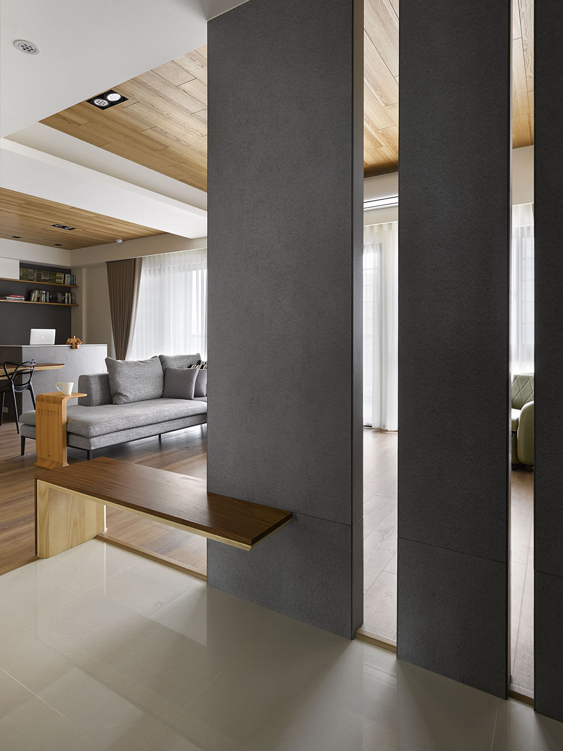 Liu's Warm Wooden Apartment in New Taipei City by HOYA Design-01