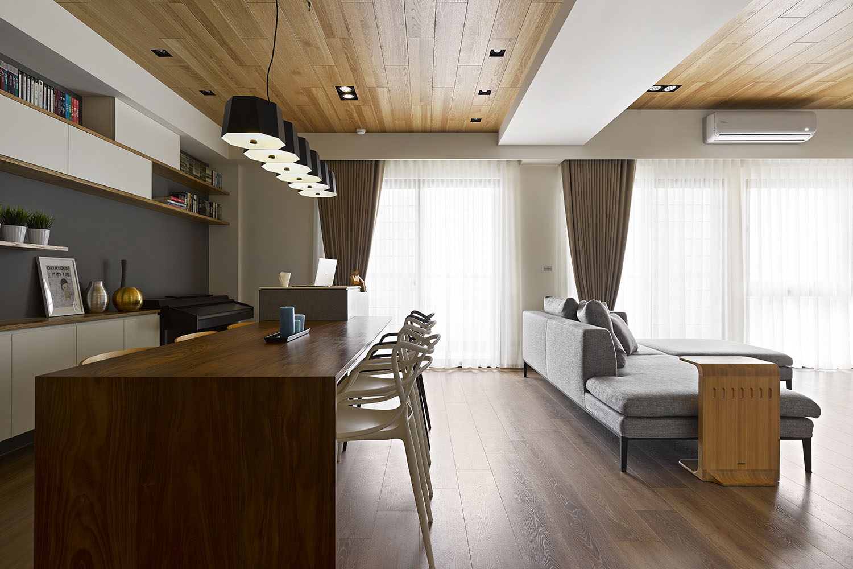 Liu s warm wooden apartment in taipei city by hoya design caandesign architecture and home - Hoya de cocina ...