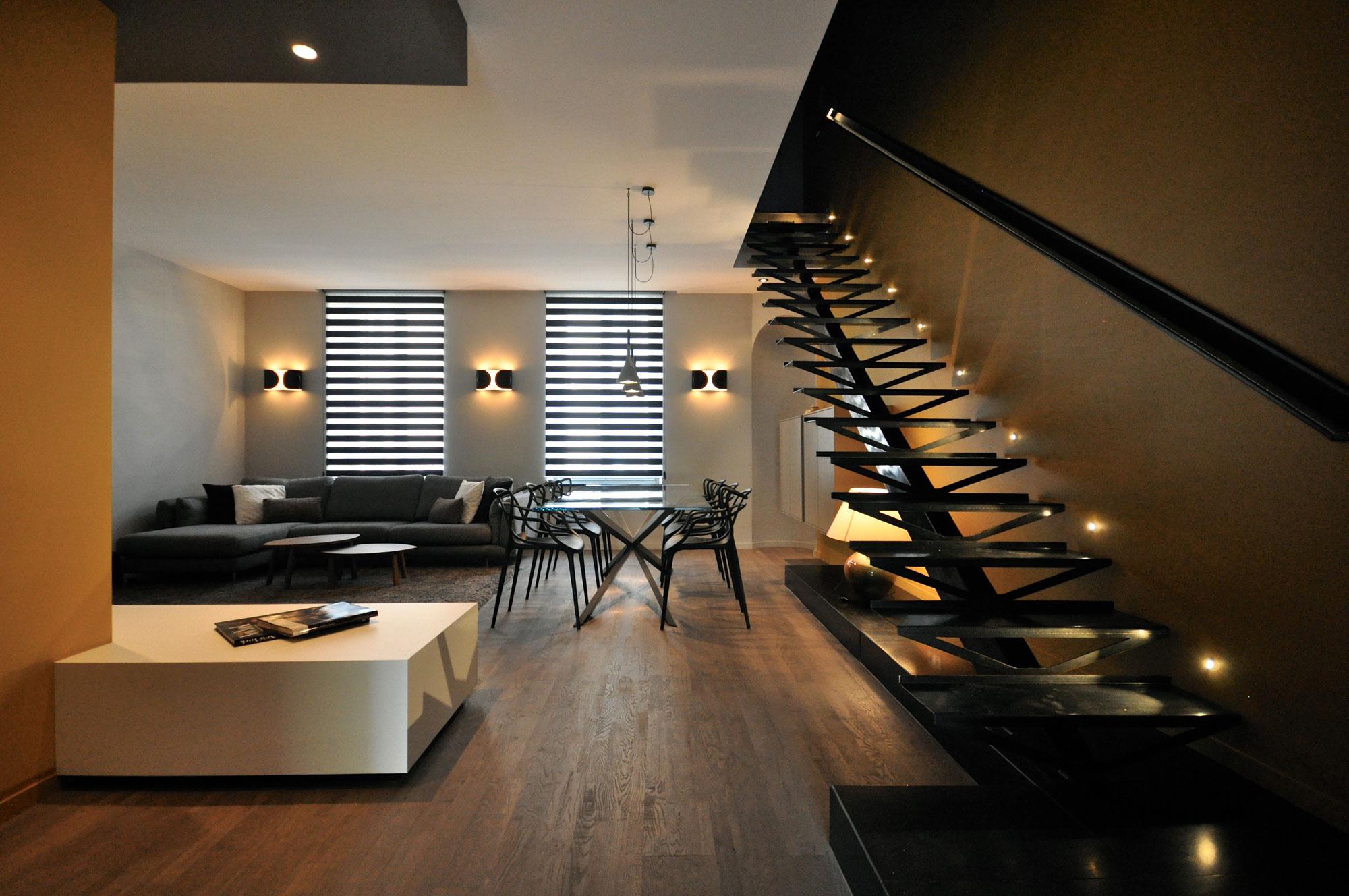Luxury 150m2 duplex apartment near parc sainte marie in for Duplex interior designs