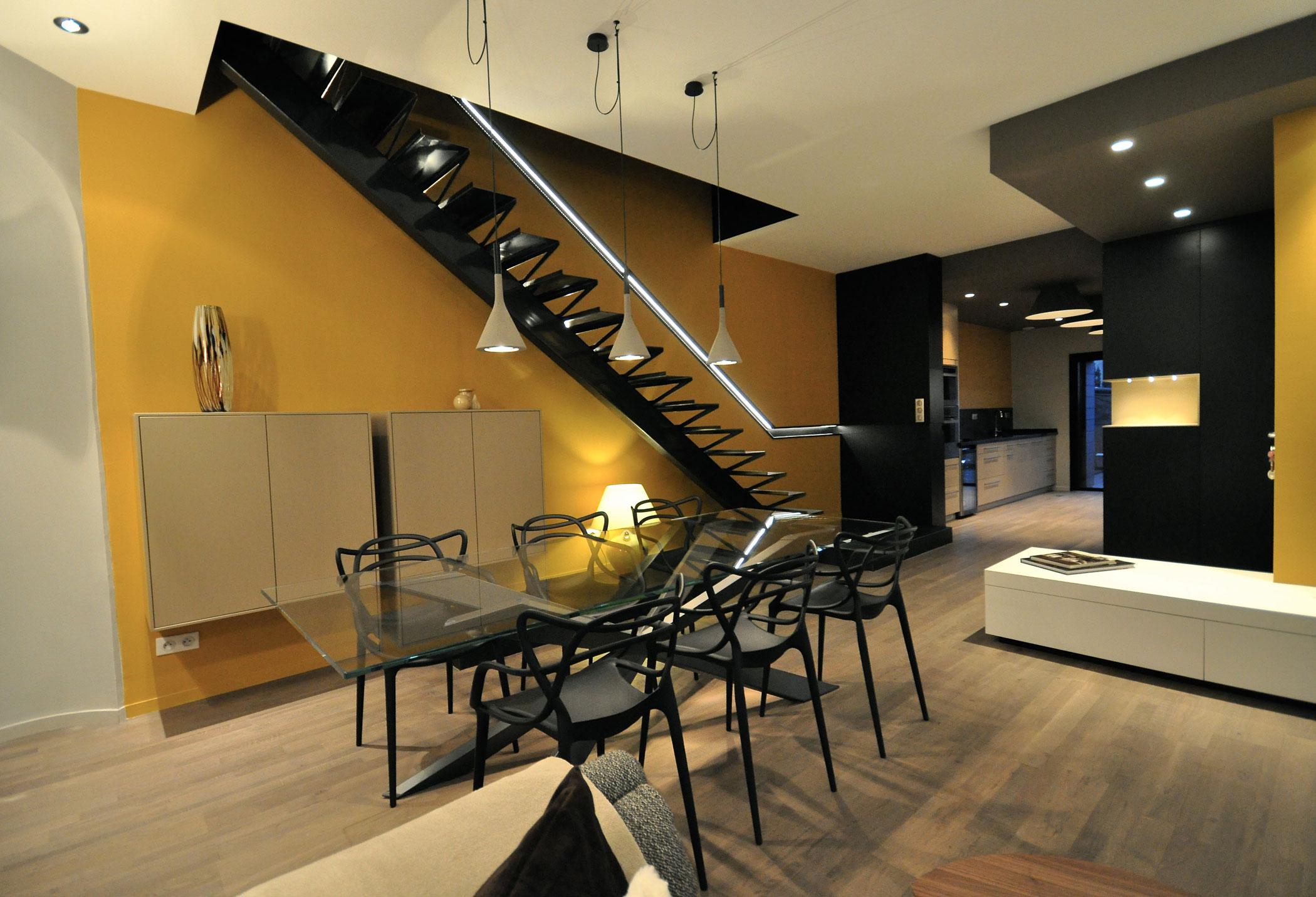 Luxury 150m2 duplex apartment near parc sainte marie in for Appartement design nancy