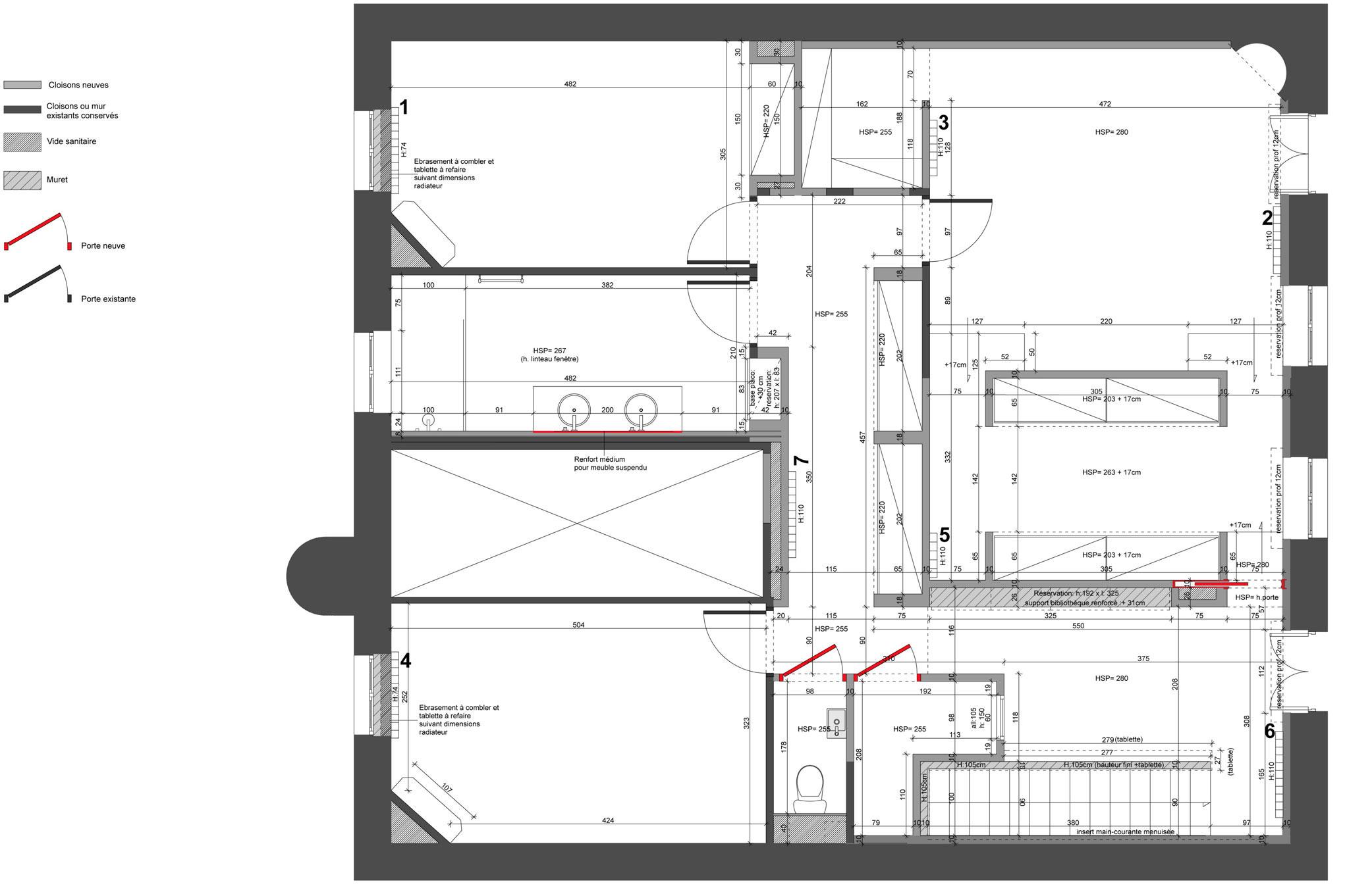 Luxury 150M2 Duplex Apartment Near Parc Sainte-Marie in Nancy by MYSPACEPLANNER-24