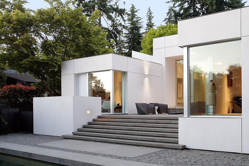 Mid Century Modern Home medina mid century modern homeskb architects - caandesign