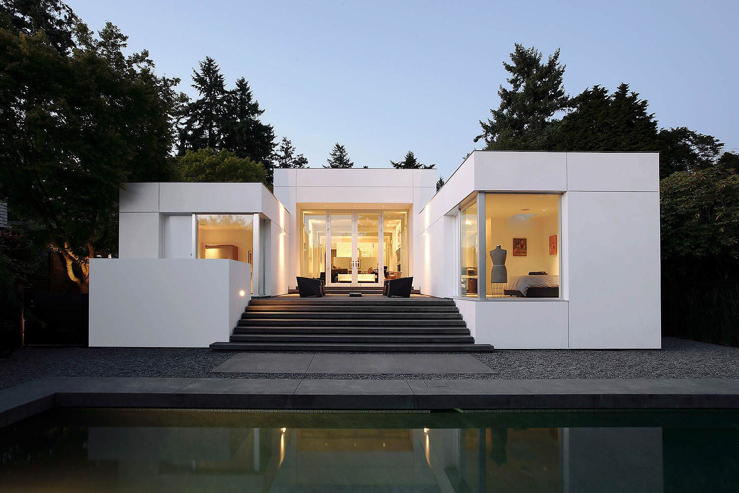 Medina Mid Century Modern Home By Skb Architects on mid century modern homes portland