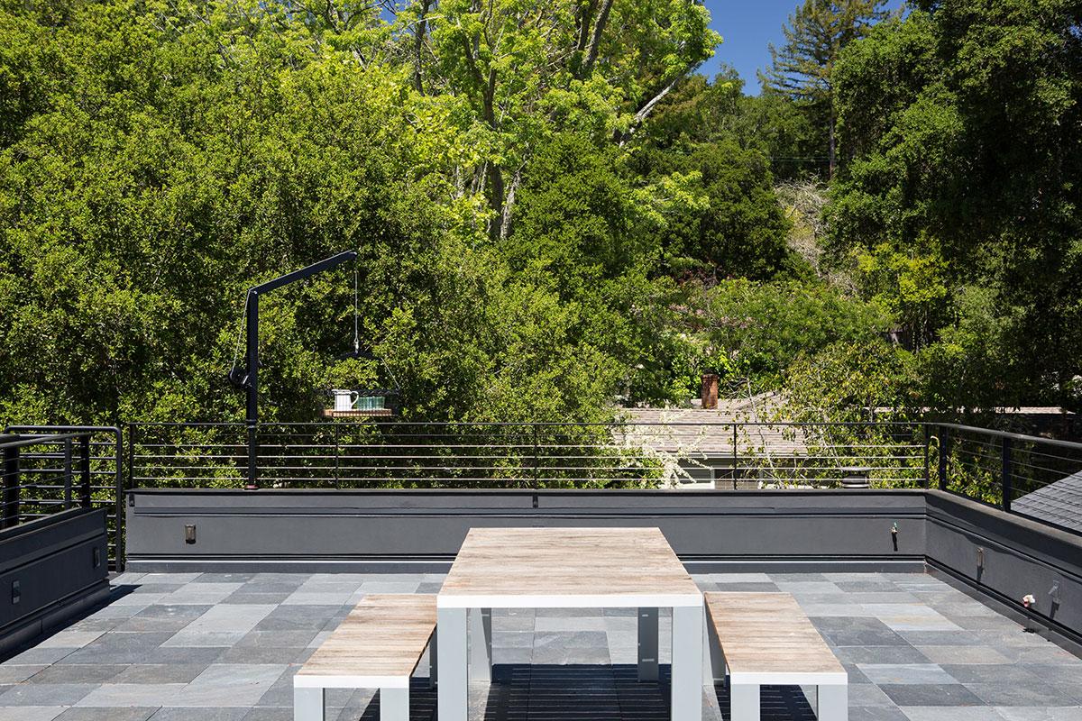 Minimal Modern Addition Home with Dark Grey Stuccoed Walls by Klopf Architecture-05